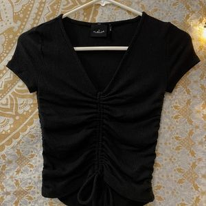 Out From Under Black Ruched Top